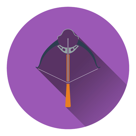arbalest: Icon of crossbow. Flat design. Vector illustration. Illustration
