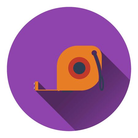 gauging: Icon of constriction tape measure. Flat design. Vector illustration.