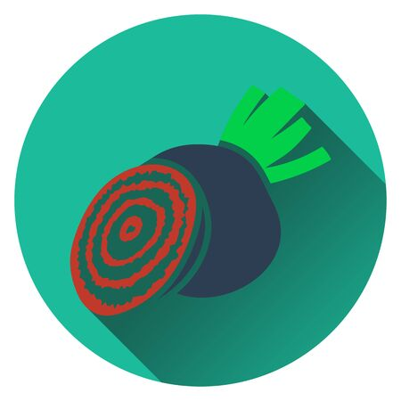beetroot: Beetroot  icon. Flat design. Vector illustration.