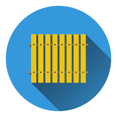 paling: Icon of Construction fence . Flat design. Vector illustration. Illustration