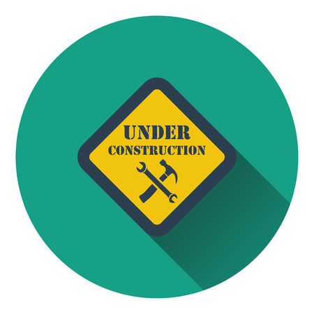 recondition: Icon of Under construction. Flat design. Vector illustration. Illustration