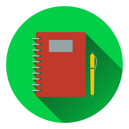 exercise book: Flat design icon of Exercise book in ui colors. Flat design. Vector illustration. Illustration