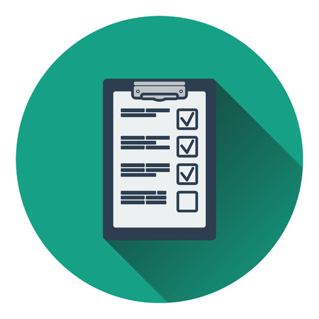 Training plan tablet icon. Flat design. Vector illustration.
