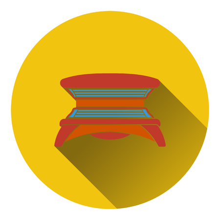 solarium: Icon of Solarium. Flat design. Vector illustration. Illustration