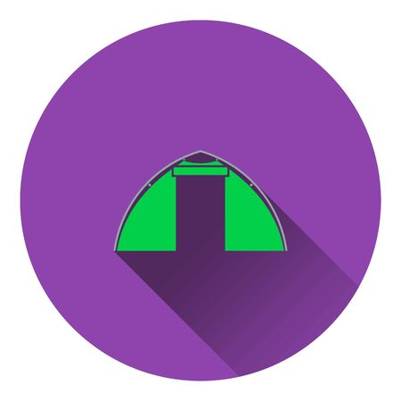 touristic: Icon of touristic tent. Flat design. Vector illustration.