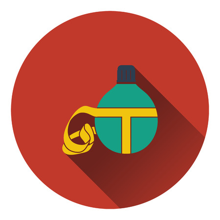touristic: Icon of touristic flask. Flat design. Vector illustration.
