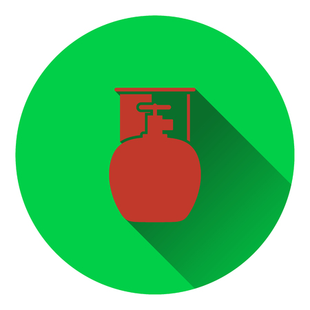 fillup: Icon of camping gas container. Flat design. Vector illustration.