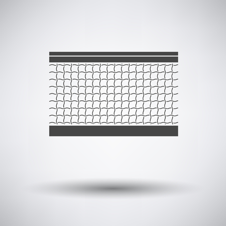tennis net: Tennis net icon on gray background with round shadow. Vector illustration.