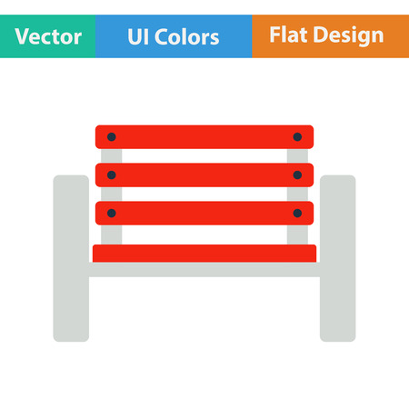 color separation: Tennis player bench icon. Flat design. Vector illustration.