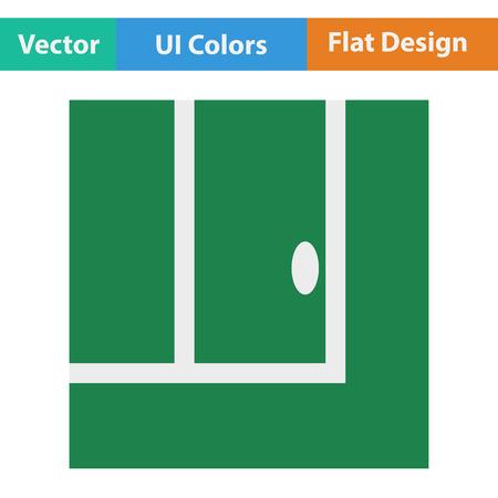 winning pitch: Tennis replay ball in icon. Flat design. Vector illustration. Illustration