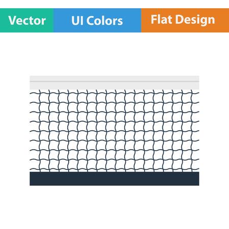 tennis net: Tennis net icon. Flat design. Vector illustration. Illustration