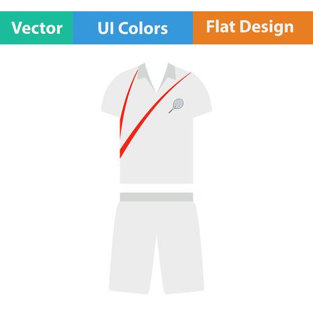 color match: Tennis man uniform icon. Flat design. Vector illustration. Illustration