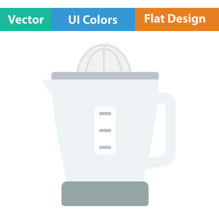 citric: Citrus juicer machine icon. Flat design. Vector illustration.