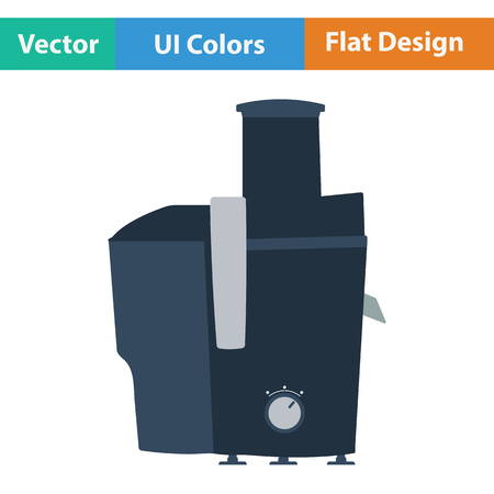juice extractor: Juicer machine icon. Flat design. Vector illustration.