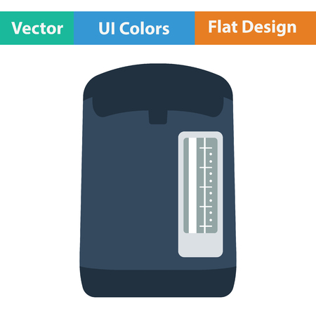 electric kettle: Kitchen electric kettle icon.  Flat design. Vector illustration.