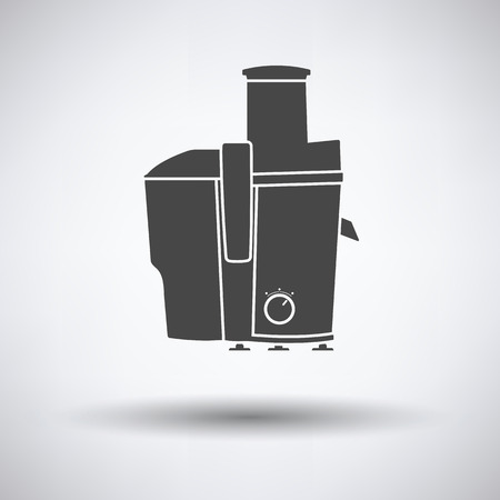 juice extractor: Juicer machine icon on gray background with round shadow. Vector illustration. Illustration