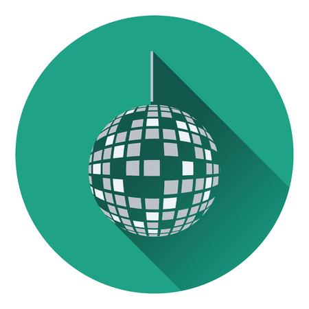 Party disco sphere icon. Flat design. Vector illustration.