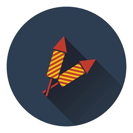 petard: Party petard  icon. Flat design. Vector illustration. Illustration