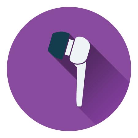 music player: Headset  icon. Flat design. Vector illustration.