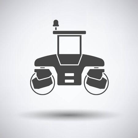 Icône de rouleau de route sur fond gris avec une ombre ronde. Illustration vectorielle Banque d'images - 58125732
