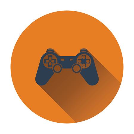 the gamepad: Gamepad  icon. Flat design. Vector illustration.