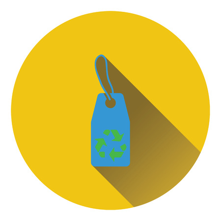 recycle sign: Tag with recycle sign icon. Flat design. Vector illustration. Illustration