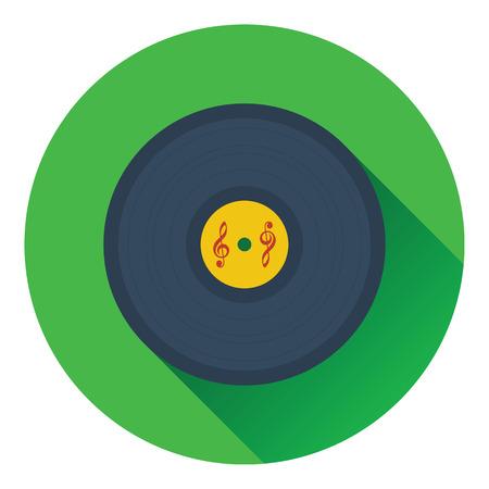 analogue: Analogue record icon. Flat design. Vector illustration. Illustration