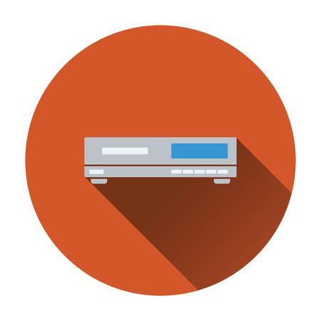 cd player: Media player icon. Flat design. Vector illustration.