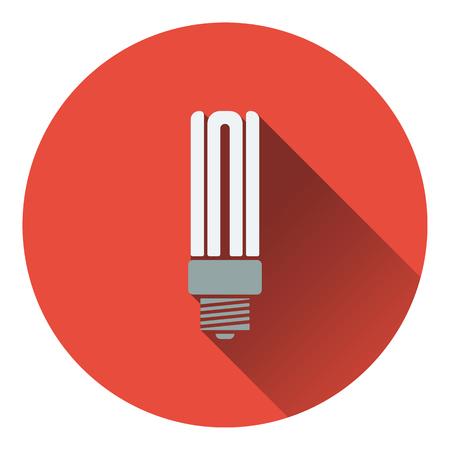 compact fluorescent lightbulb: Energy saving light bulb icon. Flat design. Vector illustration.