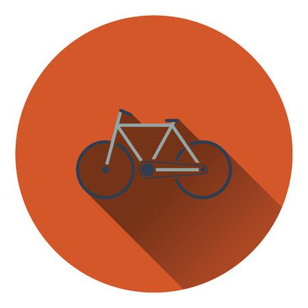 ecological: Ecological bike icon. Flat design. Vector illustration.
