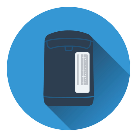electric kettle: Kitchen electric kettle icon. Flat design. Vector illustration. Illustration