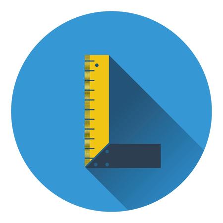 setsquare: Icon of setsquare. Flat design. Vector illustration. Illustration
