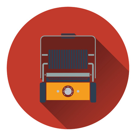 Kitchen electric grill icon. Flat design. Vector illustration. Illustration