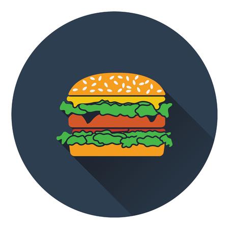 mustard seed: Hamburger icon. Flat design. Vector illustration.