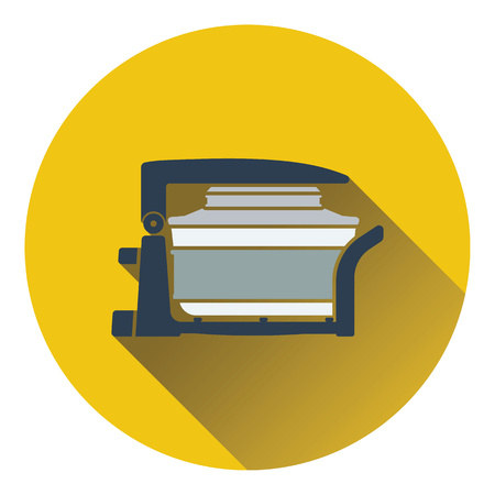 hotter: Electric convection oven icon. Flat design. Vector illustration. Illustration
