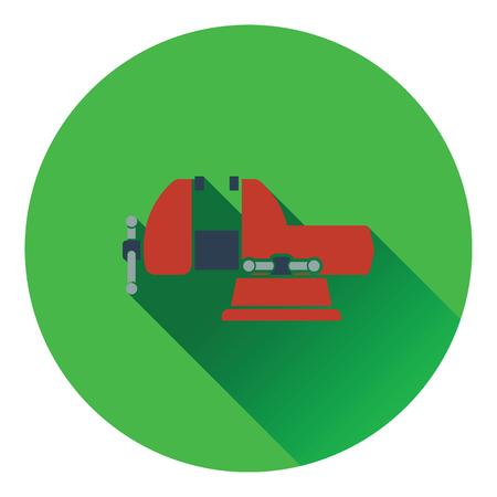 vise: Icon of vise. Flat design. Vector illustration.