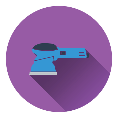 engineering tool: Icon of grinder. Flat design. Vector illustration.