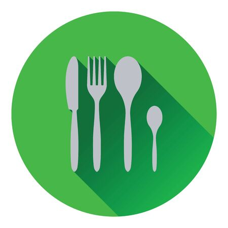 silverware: Silverware set icon. Flat design. Vector illustration. Illustration