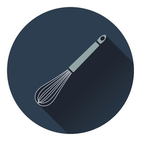 corolla: Kitchen corolla icon. Flat design. Vector illustration. Illustration