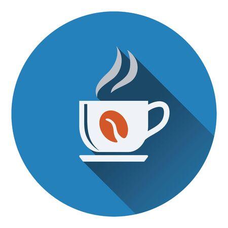 coffee icon: Coffee cup icon. Flat design. Vector illustration.