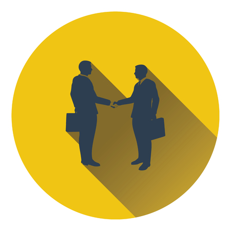 acknowledgment: Icon of Meeting businessmen. Flat design. Vector illustration.