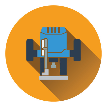 wood turning: Icon of plunger milling cutter. Flat design. Vector illustration. Illustration