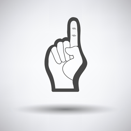 foam finger: American football foam finger icon. Vector illustration. Illustration