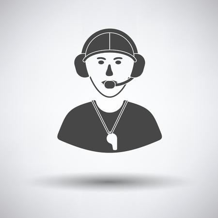 football coach: American football coach icon. Vector illustration.
