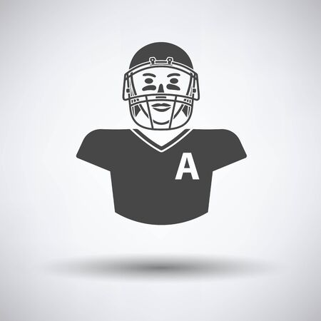 facemask: American football player icon. Vector illustration. Illustration
