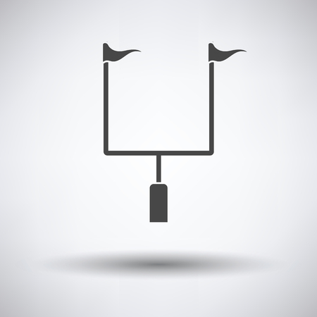 goal post': American football goal post icon. Vector illustration.