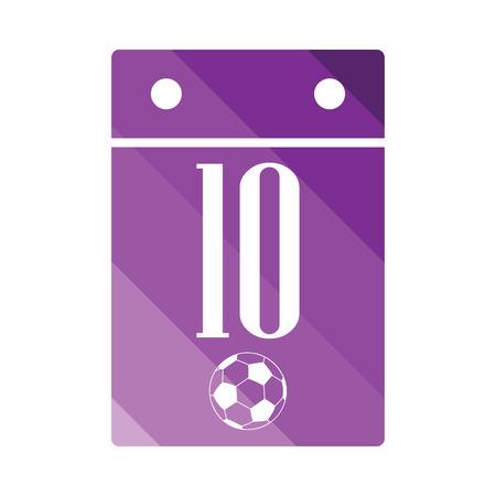 color match: Soccer calendar icon. Flat color design. Vector illustration.