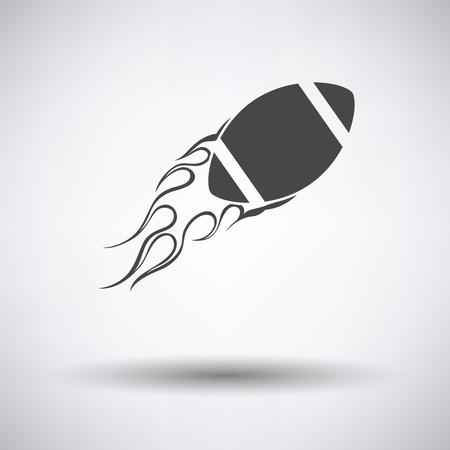 fire ball: American football fire ball icon. Vector illustration.