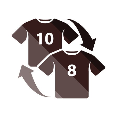 playoff: Soccer replace icon. Flat color design. Vector illustration. Illustration