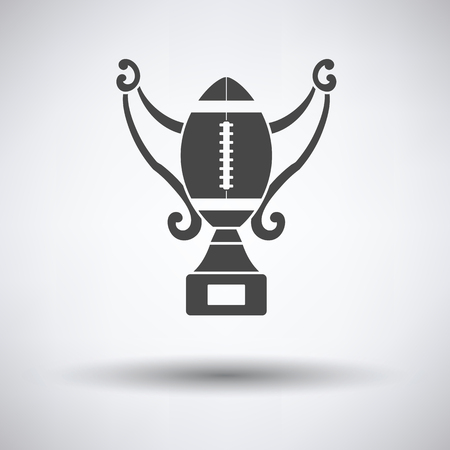 football trophy: American football trophy cup icon. Vector illustration. Illustration